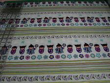 3 Yards Quilt Cotton Fabric- Benartex Cherry Blossom Festival Japanese Dolls Str