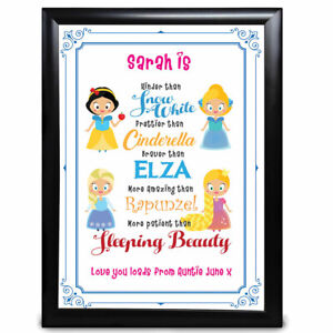 Personalised Disney Princess Niece Gifts Keepsake Birthday Thank You Presents Ebay