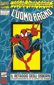 UOMO-RAGNO-143-Marvel-Italia-1994-con-Poster-CARNAGE-VENOM-e-UOMO-RAGNO