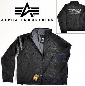 ALPHA-INDUSTRIES-Jacke-Shield-schwarz-div-Groessen-NEU