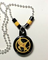 Mockingjay Hunger Games Necklace 1 Button Pendant W/chain Usa Seller