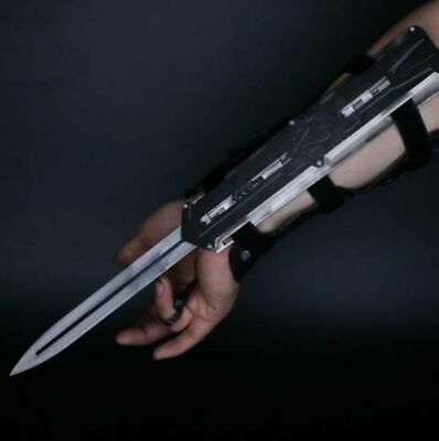 Black Assassin S Creed Hidden Blade Cosplay Alloy 1 1 Sleeve Arrow