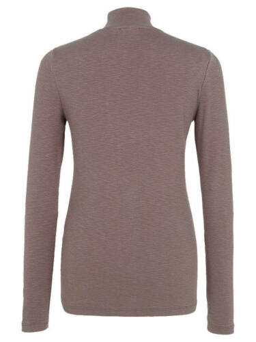 SS105 Mink NEW RRP £40 at FAT  Face Turtle Neck Ribbed Top