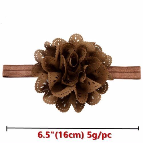 16Pcs//lot Baby Girls Flower Headbands hollow Elastic Bow Kids Hair Accessories