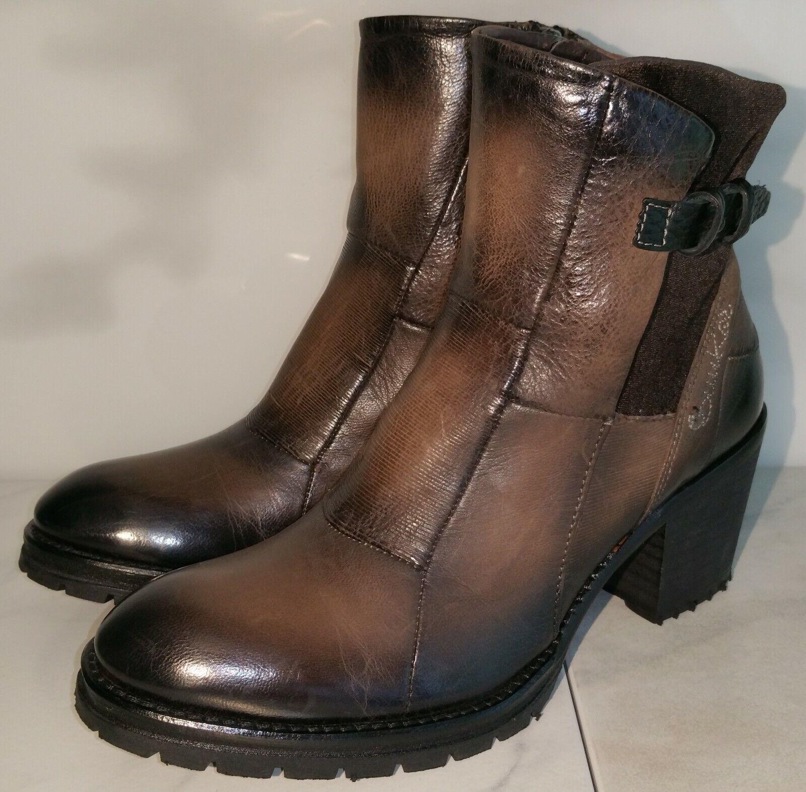 NEU BUNKER 37 PATCH-NB29 Stiefeletten Stiefel Stiefel Schuhe Leder braun Echtleder
