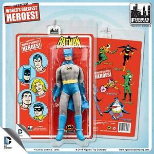 Dc Comics Figurine articulée de 8 pouces avec cartes au style rétro Batman à la retraite
