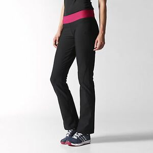 Hip Thighs Fitted Regular Size Black amp; Adidas Pants Small Climalite Women's tWwYIqUY