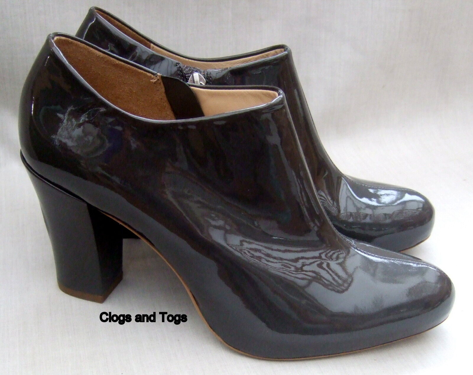 NEW CLARKS ACTIVE AIR LION CUB WOMENS GREY PATENT LEATHER SHOES BOOTS 7 / 41