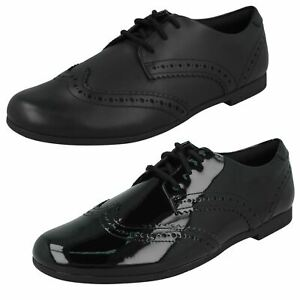 Girls Clarks 'Scala Lace Y' Leather Or