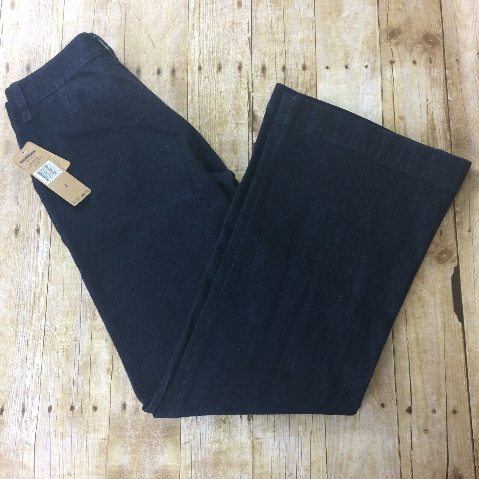Ralph Lauren Jeans Company Sz 6 Nolita Wide Leg Dark Wash bluee Denim Jeans