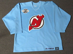 Used-Light-Blue-New-Jersey-Devils-Jofa-Center-Ice-Practice-Hockey-Jersey-MeiGray