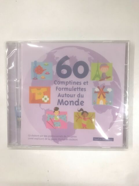 60 comptines et formulettes autour du monde cd 60 titres neuf sous blister