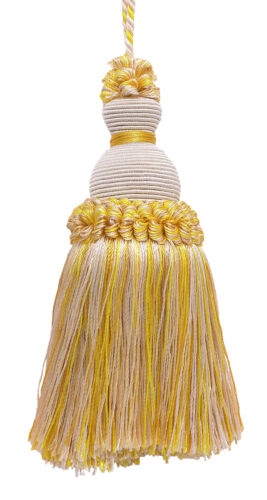 Ivory Yellow Gold 5 Decorative Key Tassel Winter Sun [Invidual]