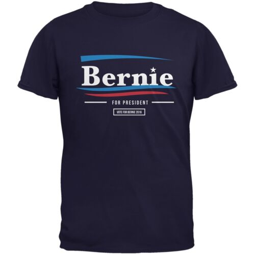 Election 2016 Bernie Sanders Wavy Bars Navy Adult T-Shirt