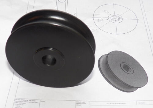 """solid Acetal sheave 76mm 3/"""" dia Other sizes + bushing can be made"""