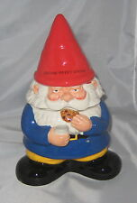 GNOME Cookie Jar Ceramic Red Blue Garden New Kitchen Decor