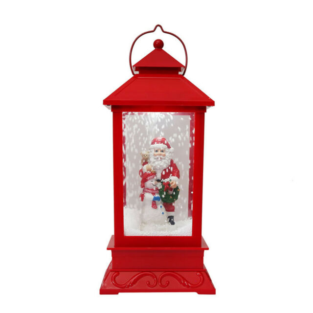 Holiday 56 Led Christmas Santa Snowing Lamp Post Red For Sale Online Ebay