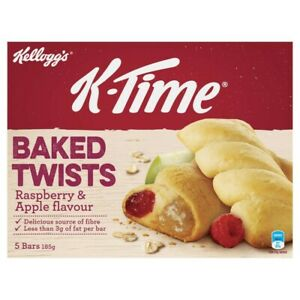 Kellogg's K-Time Baked Twists Raspberry & Apple Flavour Filled Snack Bars 5 p...