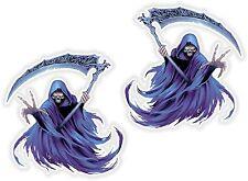 2x Grim Reaper Stickers Laptop Book Fridge Guitar Motorcycle Door Boat ATV #37