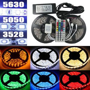 5M-10M-Bande-Ruban-LED-Strip-Flexible-RGB-3528-5050-5630-SMD-Etanche-Fete-Noel