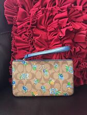 NWT Coach Large Wristlet Floral Logo Canvas 56505 fits iPhone 7+ With Gift Box!