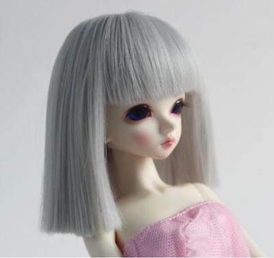 "BJD Doll Hair Wig 8-9/""1//3 SD DZ DOD LUTS Black Long Straight neat bang hair wig"