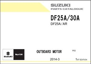 Details about Suzuki DF25A DF30A Outboards Owner's / Operators and Parts  Manual CD