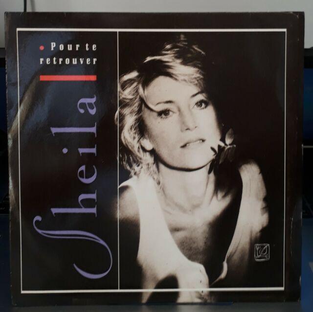 """Rare SP Sheila """"pour te retrouver"""" single7""""or.fr.zoé:8706997 de 1988"""