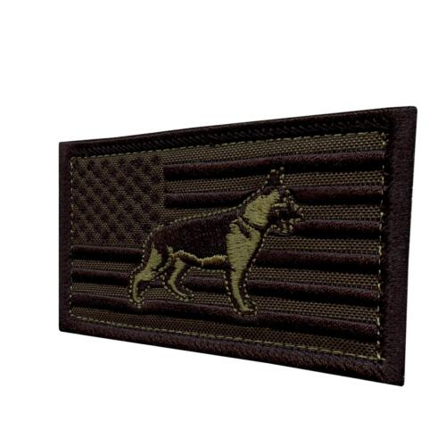 USA flag K-9 handler olive drab OD american K9 army écusson hook-and-loop patch