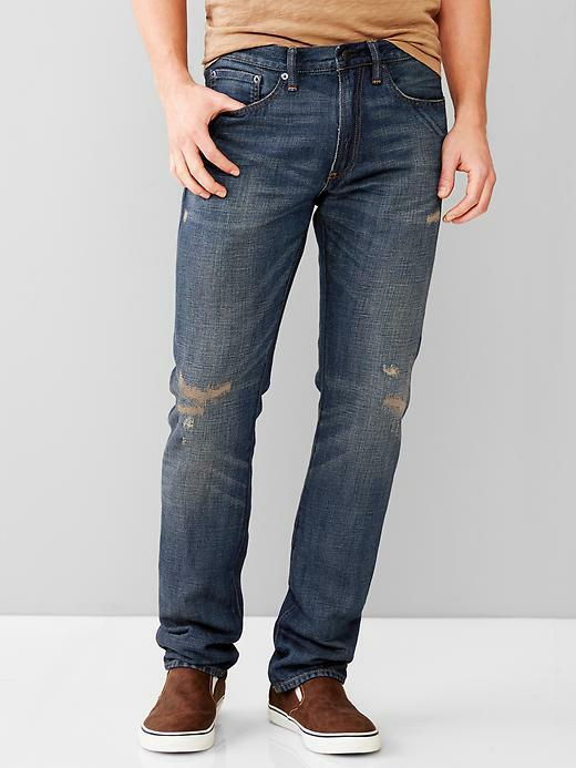 GAP Men NEW Sz 32 32 28 30 Jeans Pants Cotton Linen Flagstaff Wash Slim Fit