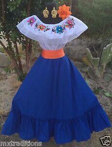 Details About Mexican Dress Fiesta5 De Mayowedding 2 Piecevestido Para Fiesta Mexicana