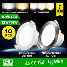 Lumey 10pcs LED Downlight Kit Dimmable 70/90/120mm Daylight Warm Cool White CCT