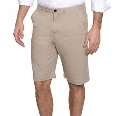 NWT Men/'s JACHS Flat Front Stretch Cotton Sateen Chino Walking Shorts Variety