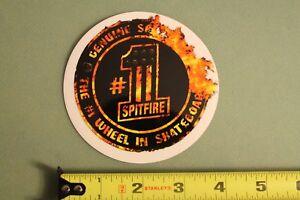 SPITFIRE Wheels Skateboards USA 1 One Flames Fire Vintage Skateboarding STICKER