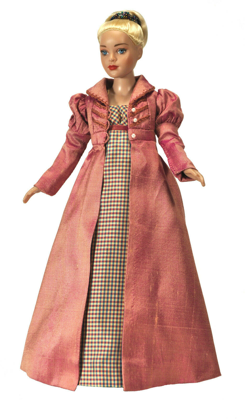 Boneka Seidenmantel  Silk Regency Coat for 10   27cm fashion doll