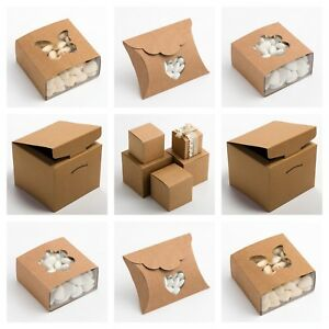 Details About Rustic Kraft Luxury Diy Wedding Favour Or Christmas Gift Boxes Box Only