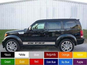 dodge nitro r t 260 hp running board decals pair 2 3 5 x 72 buy now hot ebay. Black Bedroom Furniture Sets. Home Design Ideas