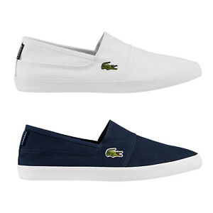Homme-Lacoste-Marice-Lacet-Toile-Chaussures-Decontractees-Confortable-Tennis-Escarpins