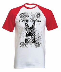 GERMAN-SHEPHERD-NEW-COTTON-BASEBALL-TSHIRT-ALL-SIZES