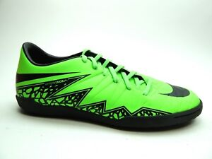 80caf3fa6907 NIKE Men s HYPERVENOM PHELON II IC GREEN STRIKE BLACK SIZES 9   10 ...