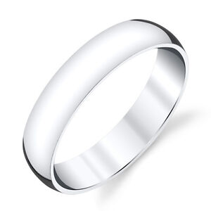 5mm-Plain-Dome-Sterling-Silver-Mens-Wedding-Band-Comfort-Fit-Ring-SEVB011