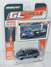 Greenlight GL Muscle - 2011 CHEVY CORVETTE Z06 CARBON - supersonic blue - 1:64