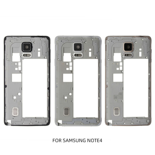 online retailer 262ce 15f2d For Samsung Galaxy Note 4 N910 Middle Chassis Mid Housing Frame Bezel Cover