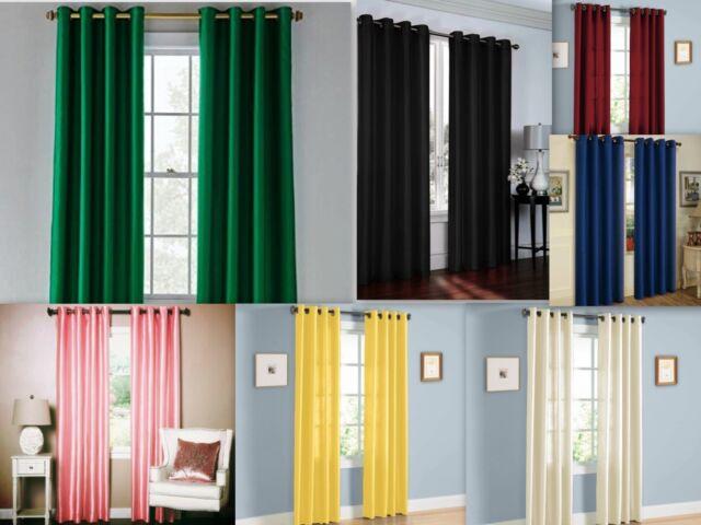 Hunter Green Curtain Panel Solid Window