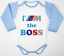 BMW Car Baby Boy Girl Red Blue Bodysuit Newborn Onepiece Infant Shirt M Power