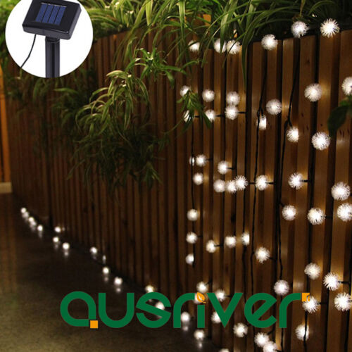 4.8m//20 LED Solar Power String Light Outdoor XMAS Lamp Waterproof Warm White