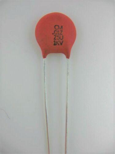 103 ceramic disc capacitor ref # 85a @ 1000V 1KV 10pcs .01uf 10nf CERA-MITE