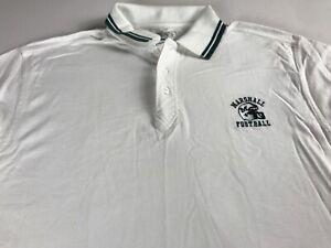 Marshall-Football-Polo-Shirt-VTG-90s-Mens-XL-Thundering-Herd-Student-Alumni-Grad