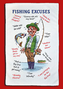Fishing Excuses - Large Microfibre Cleaning Cloth