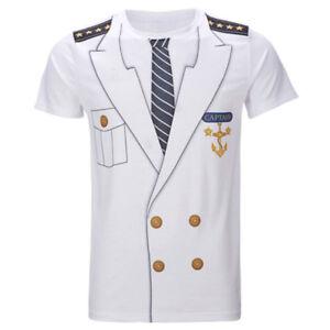 Women-Men-Sailor-Suit-Captain-Uniform-Funny-3D-Print-Casual-T-Shirt-Short-Sleeve